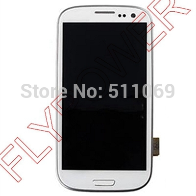 For Samsung Galaxy S3 I939D LCD Screen Display with Touch Screen Digitizer Assembly+frame by free shipping; HQ; White color