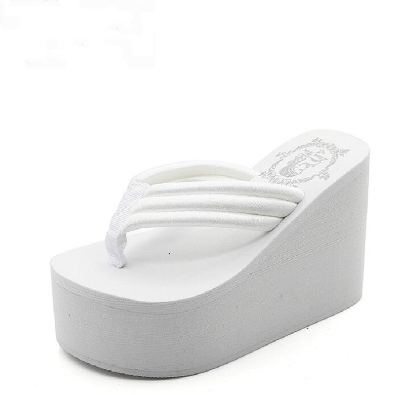 Dropshipping <font><b>Women</b></font> Fashion Summer Chunky Sole <font><b>Wedges</b></font> <font><b>Heels</b></font> Flip Flops Casual <font><b>Shoes</b></font> New Waterproof <font><b>Slippers</b></font> <font><b>Sexy</b></font> Lady Sandals image