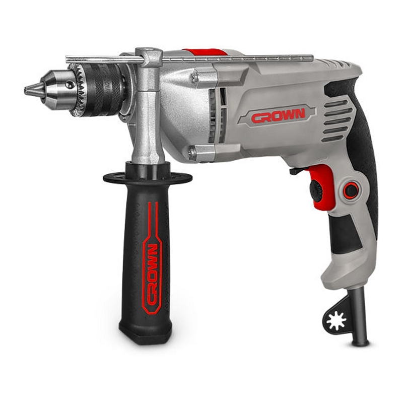 Impact drill CROWN CT10130 (speed from 0 to 2800 rpm 44800 strokes per minute, the reverse) дрель crown ct10130 серый красный