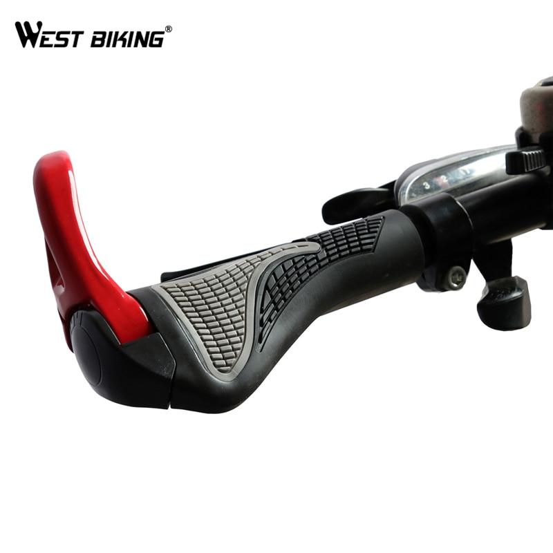 WEST BIKING Bicycle Bike MTB Components Bar ends Handlebars Rubber Grips Aluminum Barend Handle bar Ergonomic Push On Soft Grips