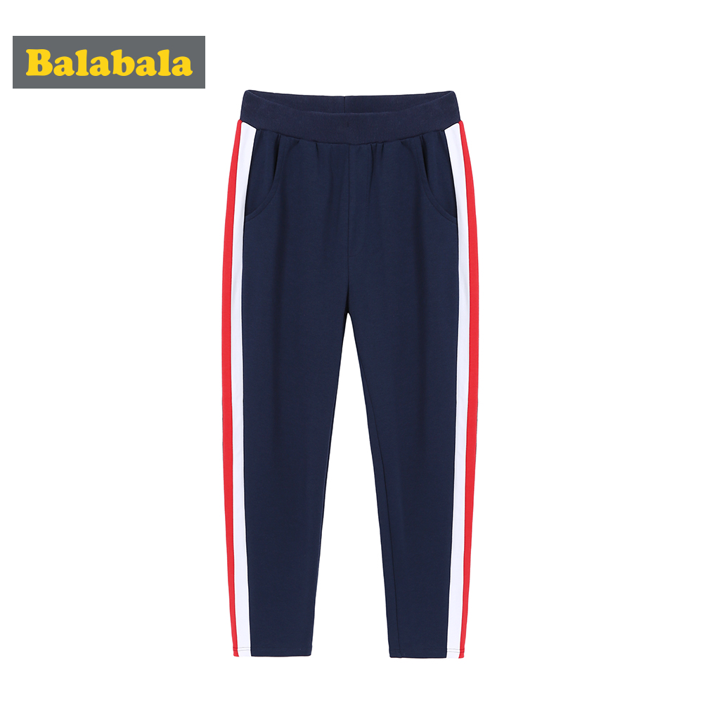 Balabala Boy Side striped Sweatpants Straight Fit Teenage Boy Pull on Jogger Sport Pants Trousers with Elastic Waist for Autumn