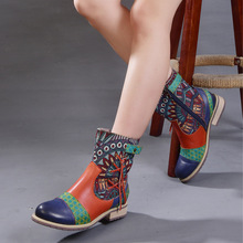 Autumn and Winter New Martin Boots Bohemia Hand-painted Tassel Genuine Leather Handmade Women Ankle Boots Plus Size 40-42 autumn and winter new martin boots bohemia hand painted tassel genuine leather handmade women ankle boots plus size 40 42
