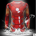 Marvel Super Heroes Vengador 3D Capitán América Deadpool Traje nuevo T shirt Hombres ropa de Compresión Armadura Térmica Bajo Tee