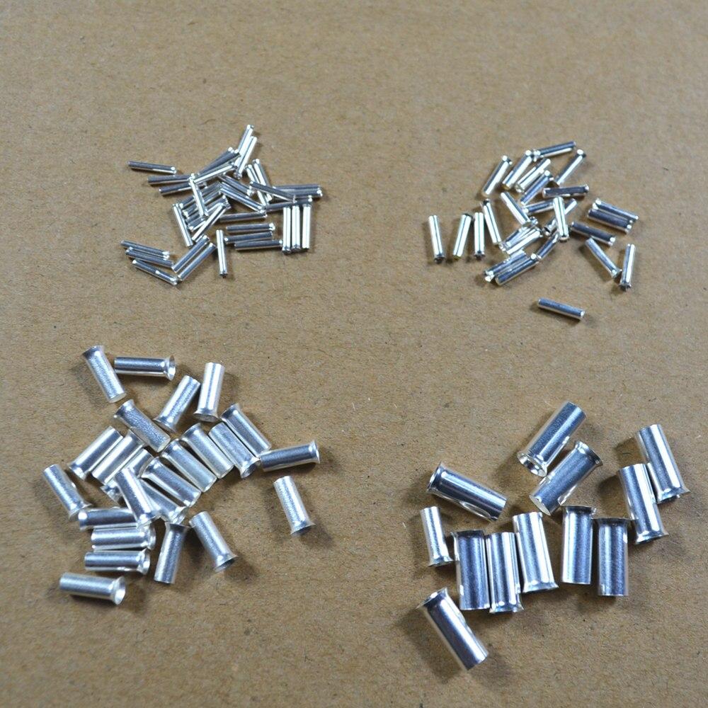 ▻100PCS 18AWG Bootlace cooper Ferrules kit set Wire Copper Crimp ...