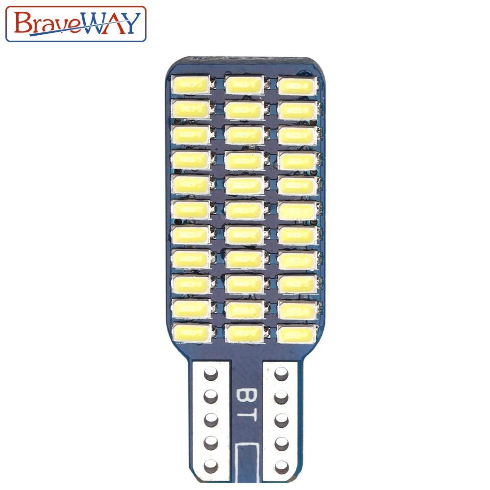 חלקי חילוף bauknecht BraveWay T10 192 194 168 W5W נורות LED 33 SMD 3014 רכב זנב אורות כיפת מנורה לבן DC 12V CANbus שגיאה חינם (3)