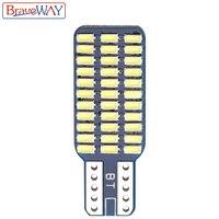 אורות כיפת מנורה לבן BraveWay T10 192 194 168 W5W נורות LED 33 SMD 3014 רכב זנב אורות כיפת מנורה לבן DC 12V CANbus שגיאה חינם (3)
