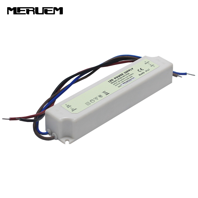 20W Output Voltage DC24V   Switching power supply  LED Strip Driver  Water Proof IP 67 Input AC100-240V 50/60 Hz ms 50 24 24v 2 1a switching power supply 85 264v ac input 5v dc output 50w led driver