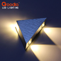 GOODIA 3W Triangle LED Wall Lamp Light Aluminum Modern Home Lighting Indoor And Outdoor Decorative