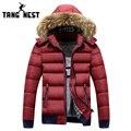 Tangnest 2017 fashional dos homens com capuz de pele 2 estilo diferente casaco parka quente grosso inverno masculino asiático tamanho de alta qualidade mwm1599