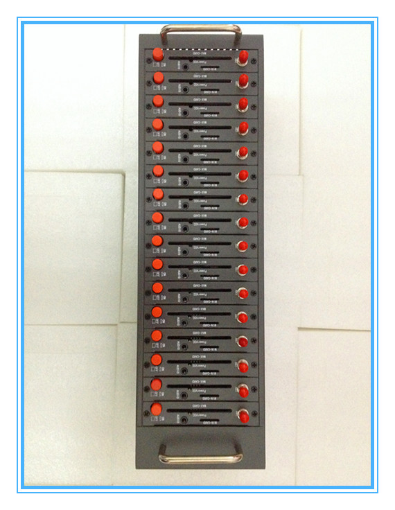 Modul 16 port bulk sms modem pool quad band Q24plus mendukung STK USSD