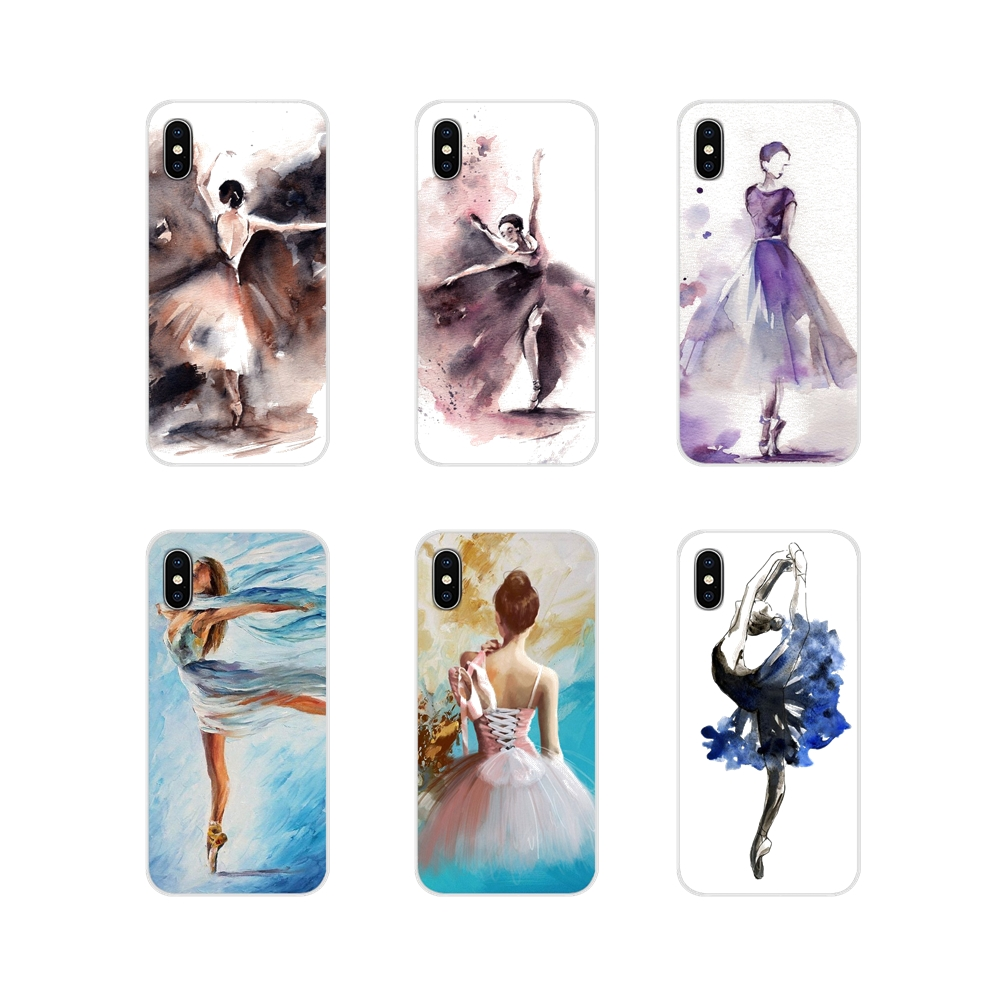 Transparent Soft <font><b>Cases</b></font> For <font><b>Huawei</b></font> P8 9 Lite Nova 2i 3i GR3 Y6 Pro <font><b>Y7</b></font> Y8 Y9 Prime 2017 2018 <font><b>2019</b></font> watercolor painting ballet <font><b>girls</b></font> image