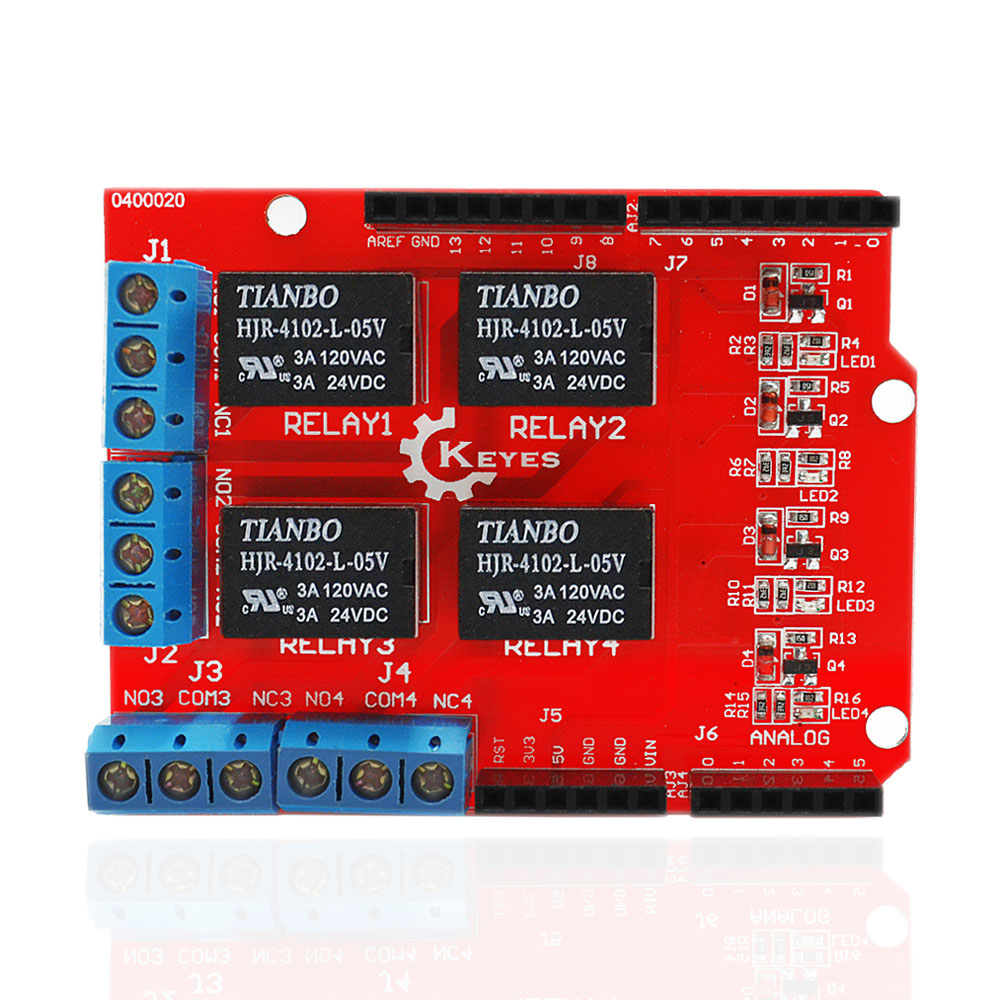 ̀ •́ keyes Relay Controller Board Relay Expansion Shield for