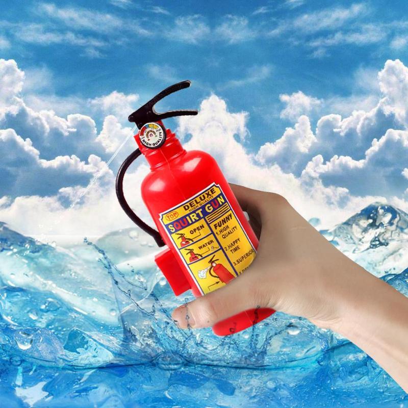 Simulation Lifelike Fire Extinguisher Toy Creative Plastic Water Gun Mini Spray Style Exercise Toy Kid Gift Bathtub Beach Squirt