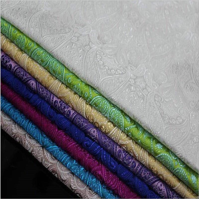HLQON 75 cm largura telas de tecido brocado fios tingidos tecidos para patchwork sentiu folha de cama vestido cheongsam crianças casaco de pano