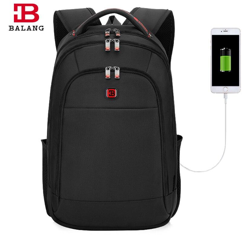 Balang hommes sacs à dos Anti-voleur Mochila pour ordinateur portable 15.6 pouces grande capacité noir sac à dos pour femmes hommes sacs d'école sac à dos