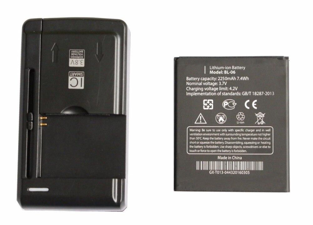 Новый 2250 мАч/7.4wh bl-06 Замена литий-ионная Батарея + Универсальный USB стены Зарядное устройство для <font><b>THL</b></font> T6s T6 Pro <font><b>T6C</b></font> + код отслеживания