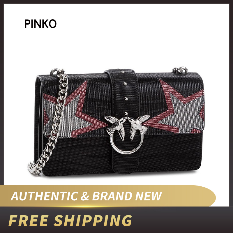 online store c0971 4c898 US $201.69 19% OFF|PINKO Love Stars 2 Tracolla AI 18 19 PLTT 1P218P Y51R  Handbag-in Shoulder Bags from Luggage & Bags on Aliexpress.com | Alibaba ...