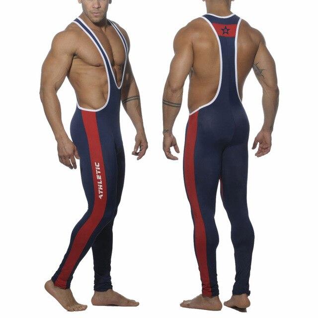 aef59a3c22f2d Star B Man Tight Leotards Unitards Jogging Pants One piece Swimwear Full  body bodywear Tights Wrestling Singlet Gym Suit G8061