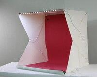 Photo Studio Accessories Folding Studio Diffuse Soft Box With LED Light Black White Background L
