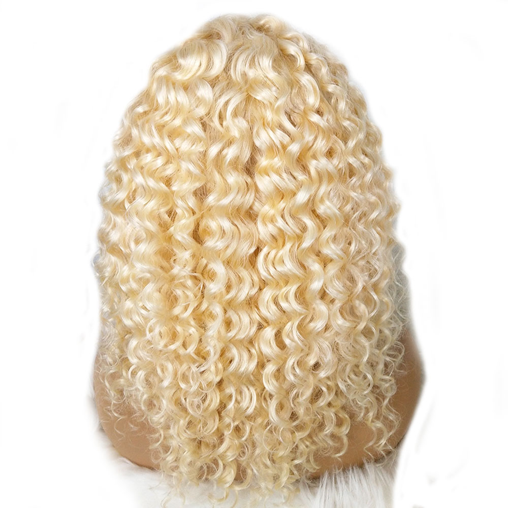 613 Blond Honey Curly 360 Lace Front Human Hair Wig Pre Plucked Brazilian Remy Wig With