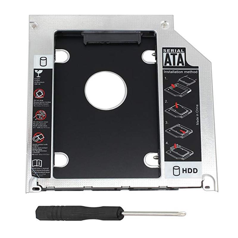 Hard Drive Caddy Tray 9.5mm Universal SATA 2nd HDD HD SSD Enclosure Hard Drive Caddy Case Tray, for 9.5mm Laptop CD  DVD-ROM thumbnail