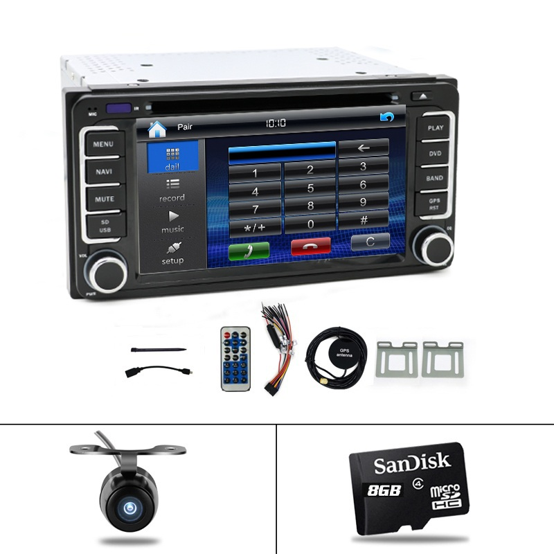 "2 DIN 6.2 ""dotyková obrazovka pro Daihatsu Terios Eco / Daihatsu Terios Wild / Perodua Nautica Auto DVD přehrávač v rámci GPS BT Radio USB"