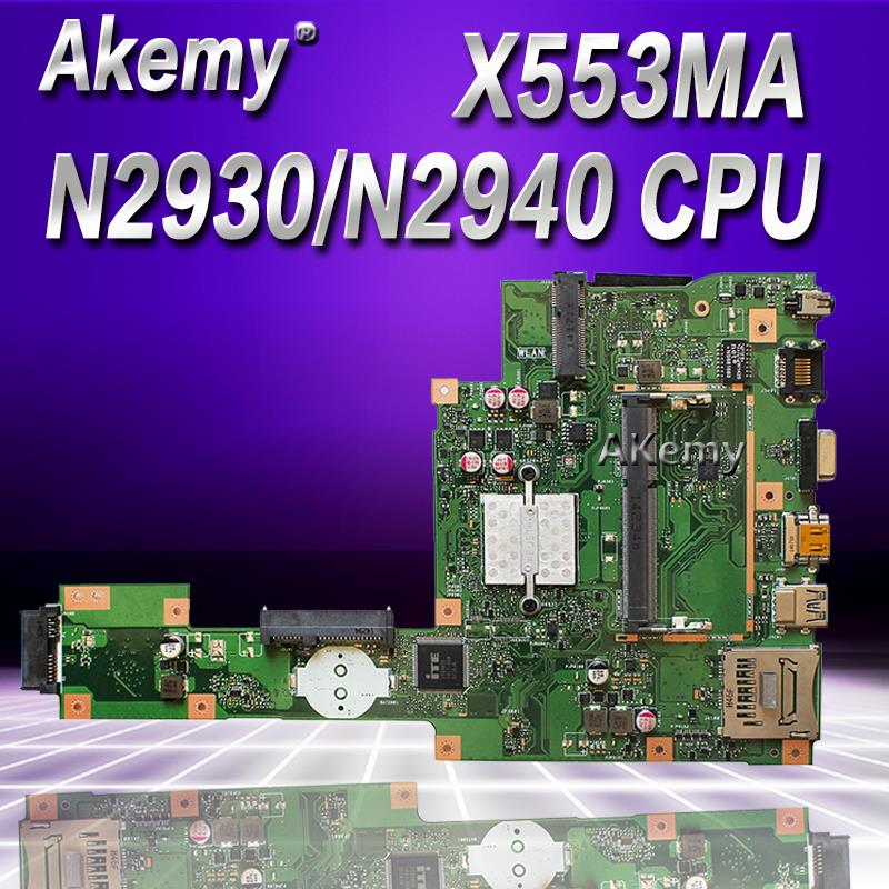 Akemy For ASUS A553M X503M F503M X553MA Laptop motherboard N2930 N2940 CPU X553MA REV 2 0