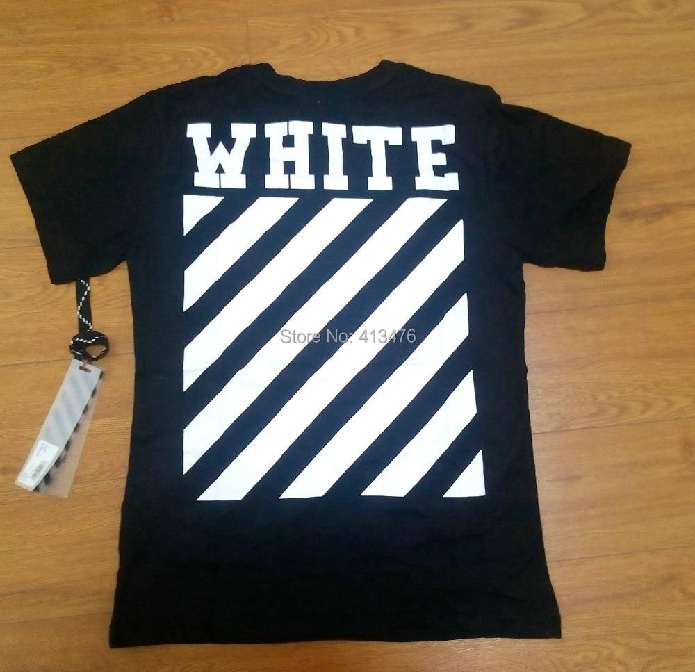 T shirt white brand -  2015 Top Version Summer Men Brand Off White Virgil Abloh T Shirt Tee Print Religion Painting