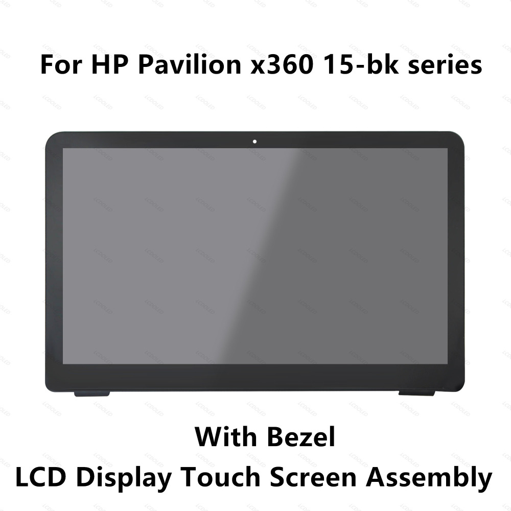 15.6''For HP Pavilion x360 15-bk020wm 15bk062sa 15-bk010nr 15-bk193ms 15-bk101la Touch Glass Digitizer LCD Screen Assembly Bezel for hp envy 15 bq194nz 15 bq199nz 15 bq051sa 15 bq150sa 15 bq100nl 15 bq101nl 15 bq103nl lcd display screen touch glass assembly