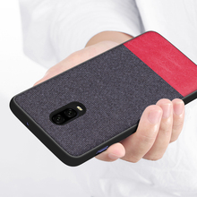 Shockproof Silicon Canvas Cover Phone Case For Oneplus 6t 6 5 5t Oneplus6 Oneplus5 Back Cover Original Case Coque