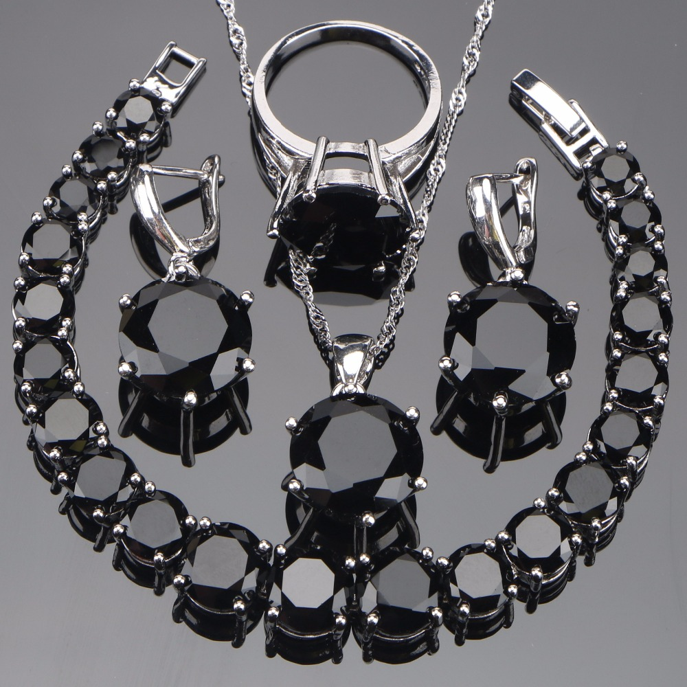 925 Sterling Silver Wedding Bridal Jewelry Sets