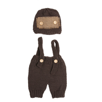 Baby Newborn Photography Props Handmade Knitting Soft Hat Pants Set Baby Clothing Accessories For 0 4