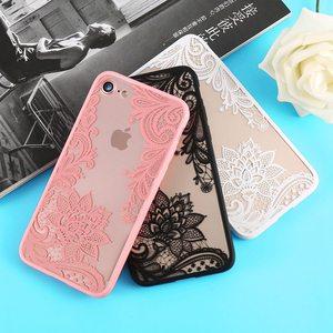 Чехол для телефона iPhone 5s 5 SE 6s 6 7 8 Plus, роскошные кружевные задние чехлы из ТПУ с цветочным рисунком для iPhone X Xr Xs Max, чехол, чехлы