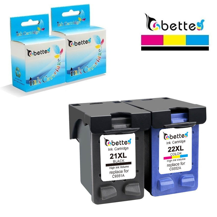 21XL 22XL Ink Replacement For HP Cartridges 21 And 22 Deskjet 3915 D1320 D1311 D1455 D1530 F2100 F2180 F2280 F4140 F4172 F4190