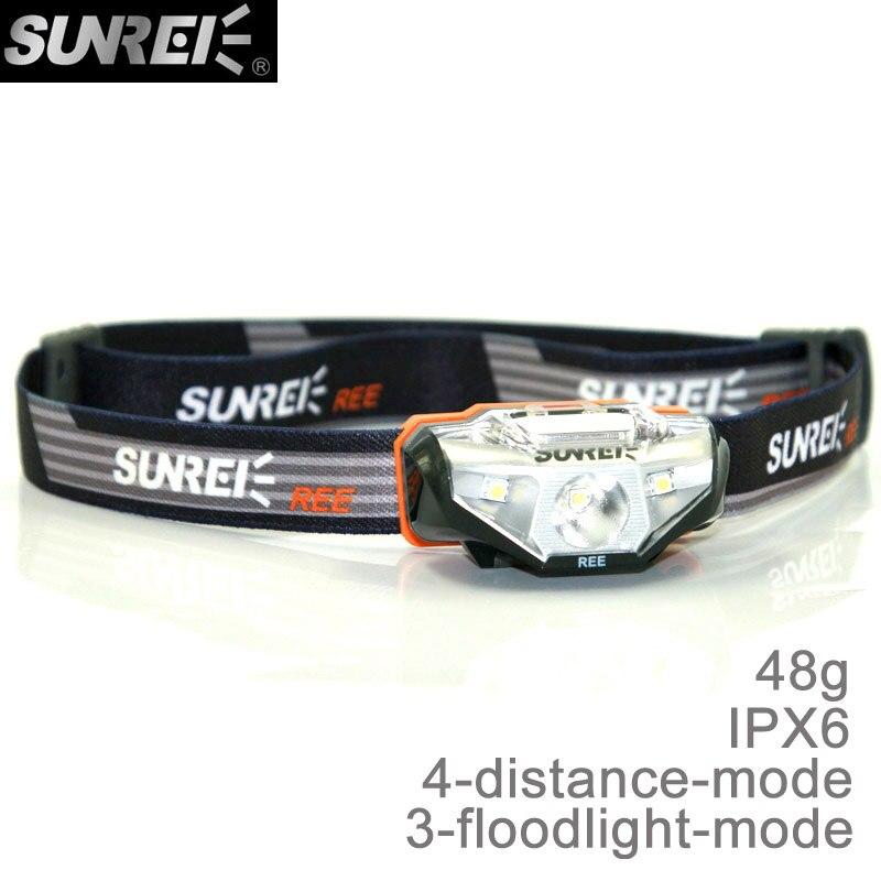 SUNREI REE Ultra-light IPX6 Wasserdichte Wandern Camping Sport Led-weißlicht-scheinwerfer