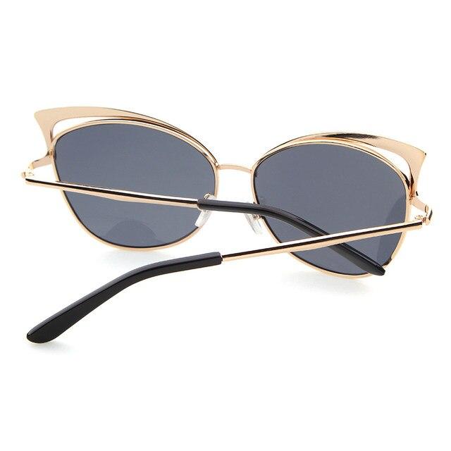33f029dc90566 ADE WU Olho de Gato Óculos De Sol Das Mulheres Marca de Luxo Designer de  Revestimento UV400 óculos de Sol Óculos de Sombra Óculos Frame Da Liga Das  Senhoras ...