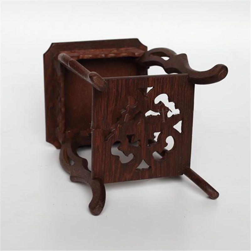 Image 3 - Square base solid wood carving household act the role ofing is tasted of Buddha vase furnishing articles base stone arts  crafts-in Coffee Tables from Furniture