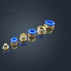 Бесплатная Доставка 10 шт. 8 мм до 3/8 'пневматический разъемы Мужской прямой one-touch фитинги BSPT PC8-03
