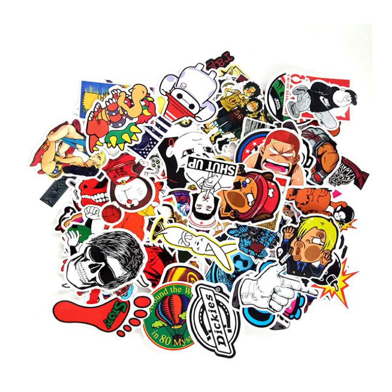 100 Pcs/pack DIY Classic Fashion Style Graffiti Stickers For Car & Suitcase Cool Laptop Stickers Skateboard Sticker Christmas
