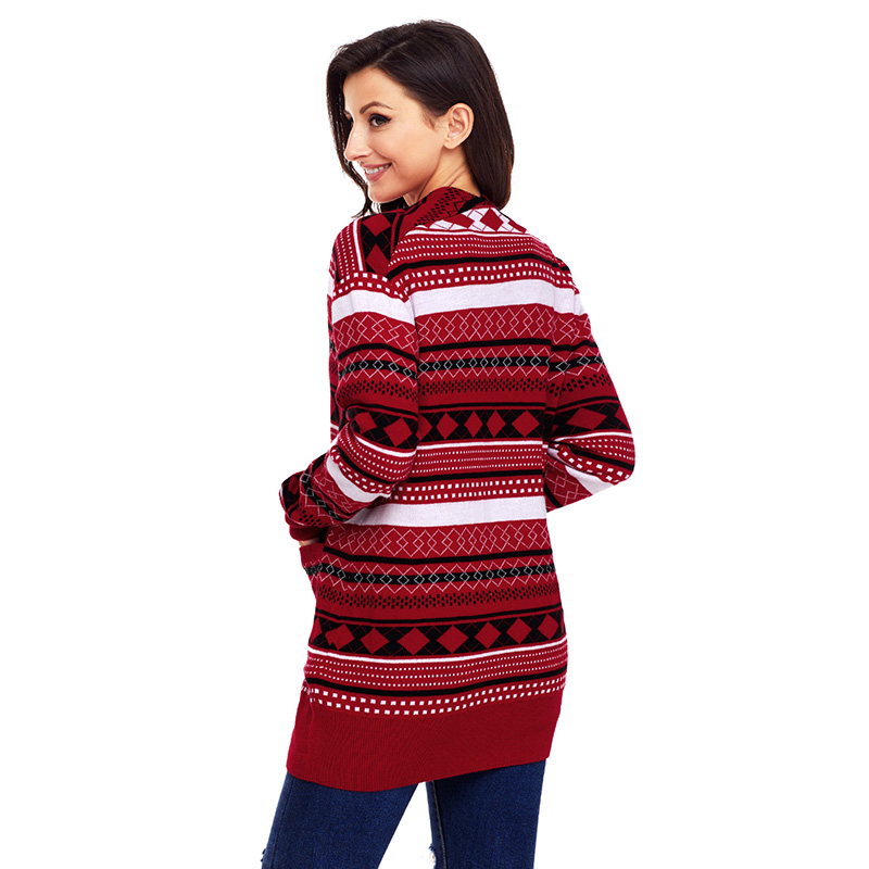 Red-White-Black-Geometric-Knit-Christmas-Cardigan-LC27805-3-2