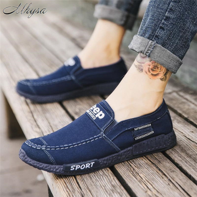 Mhysa 2018 Men sneakers new denim slip-on canvas shoes men footwear spring summer  breathable sneakers men casual shoes S443