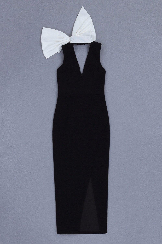 Up Arc Longues Ouvert Manches Robe Femmes Fille Sans Haute Col Noir Party V Mode Qualité Vêtements Sexy 2019 De Longue xxCqw7ZA