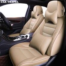 Podróż samochodem niestandardowe skórzane pokrycie siedzenia samochodu dla hyundai solaris 2017 creta getz i30 accent ix35 i40 akcesoria pokrowce na pojazd