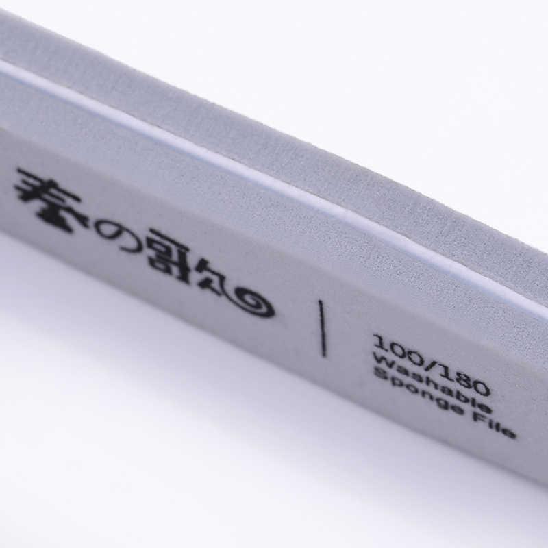 Tırnak zımpara dosya tampon taşlama parlatma tamponlar Salon UV jel İpuçları pedikür tasarım DIY tırnak sanat araçları