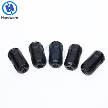 5 шт. 3,5 мм черная пластиковая клипса на EMI RFI подавитель шума кабель ферритовый сердечник фильтры съемные