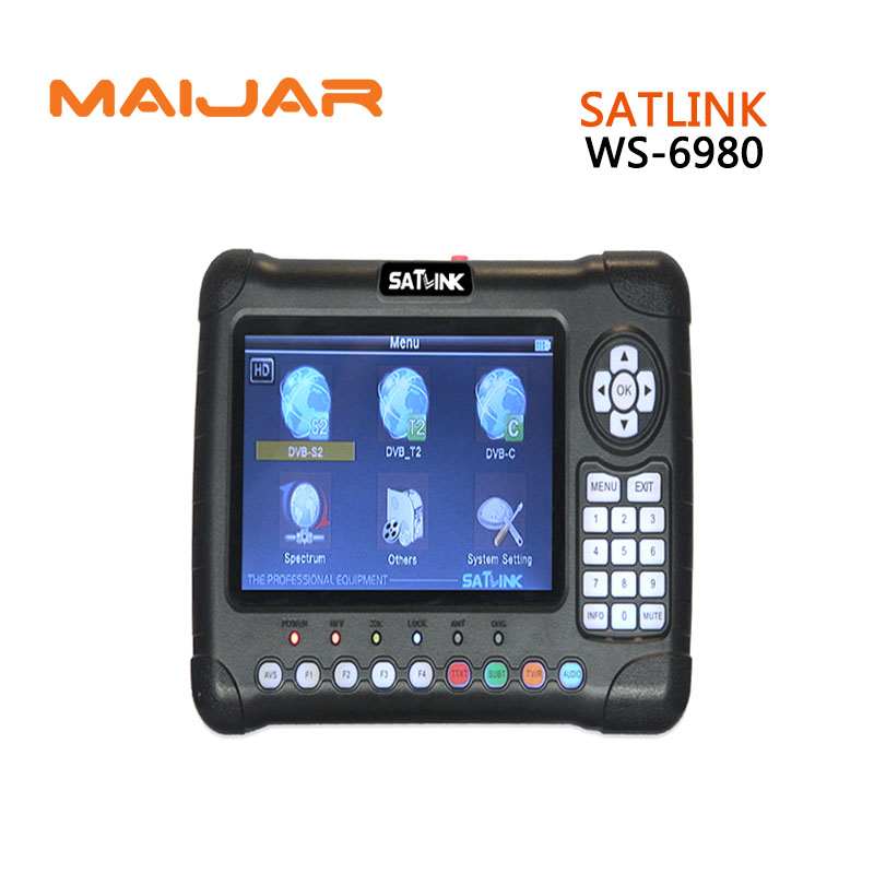 [Genuine]Satlink WS-6980 7inch HD LCD Screen DVB-S2&DVB-T/T2&DVB-C 6980 Combo Finder with Spectrum Analyzer constellation finder [genuine] satlink ws 6960 dvb s