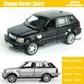 1:36 escala Diecast coche de Metal de aleación para Range Rover Sport Collection modelo tire los juguetes del coche - negro / plata / azul / rojo