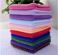 Free Shipping 10pcs/lot 25x25cm Microfiber Car Cleaning Towel Microfibre Detailing Polishing Scrubing Hand Towel Car Wash