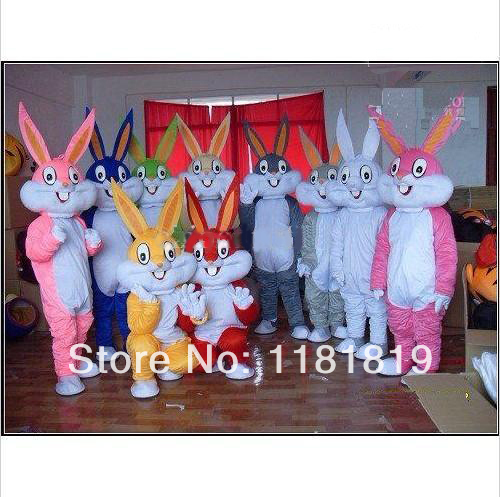 Easter bunny bugs rabbit Mascot costume hot sale  Adult size cartoon character fancy dress carnival costume outfit suit MC60200