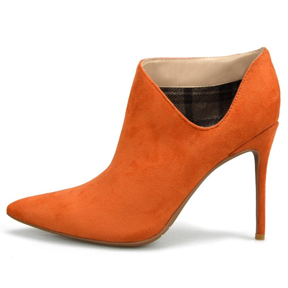 forme V Heels 8 8cm Talons Peluche black Pour yellow Heels 2018 Chaud 10 Avec Black 10cm Chaussures Mince Haute Mode Heels orange Heels Cm Peu Profonde Femmes Stylesowner Printemps Bottes Eq65BSn